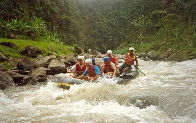 Ane & Jack Rafting Bali's Ayung River, 1991