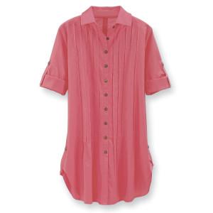 pintuck tunic pink