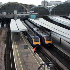 Trains at London's Paddington station
